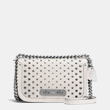 Coach Ombre Rivet Swagger Shoulder Bag Chalk