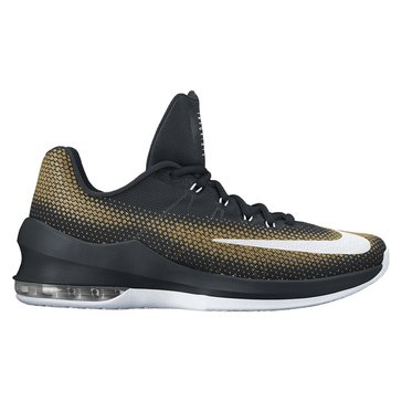 Nike Air Max Infuriate Low Men's Basketball Shoe Black/ White/ Metallic Gold