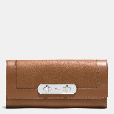 Coach Swagger Slim Envelope Wallets Saddle
