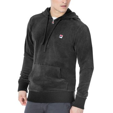 Fila Men's Heritage Velour Hooded Jacket - Charcoal