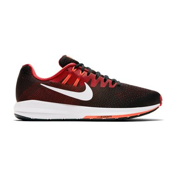 Nike Air Zoom Structure 20 Men's Running Shoe Black/ University Red/ Hyper Orange
