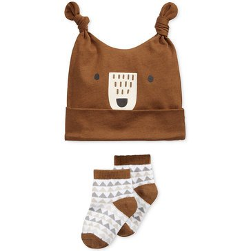 First Impressions Baby Boys' Bear Hat Sock Gift Set