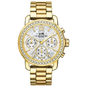 Coach Women's Legacy Crystal Bezel/Gold Plated Sport Watch, 36mm