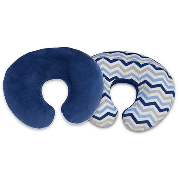 Boppy Slipcover, Signature Chevron Navy/Grey