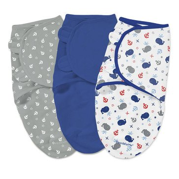 Summer Infant Swaddle Me 3-Pack, Small, Little Whales