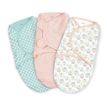 Summer Infant Swaddle Me 3-Pack, Small, Hoot N' Good Times