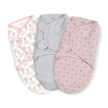 Summer Infant Swaddle Me 3-Pack, Small, Slow And Steady