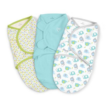 Summer Infant SwaddleMe 3-Pack, Small, Elley Fun
