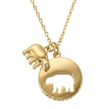 Kate Spade Gold Tone 'Mom Knows Best' Mama Bear Necklace