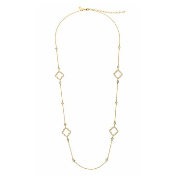 Kate Spade Gold Tone 'Lantern Gems' Scatter Necklace
