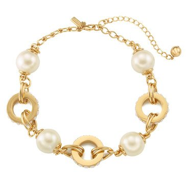 Kate Spade Gold Tone 'Second Nature' Small Cream Statement Necklace