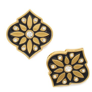 Kate Spade Gold Tone 'Moroccan Tile' Statement Stud Earrings