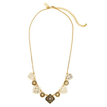 Kate Spade Gold Tone 'Moroccan Tile' Mini Necklace