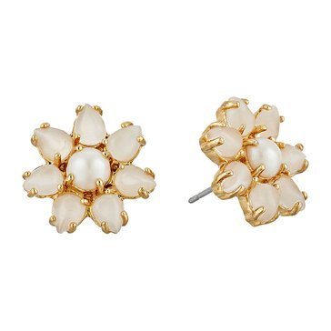 Kate Spade Gold Tone 'Brilliant Bouquet' Cream Stud Earrings
