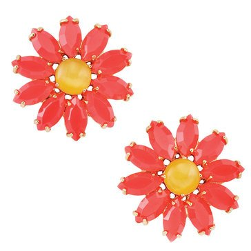 Kate Spade Gold Tone 'Brilliant Bouquet' Stud Earrings
