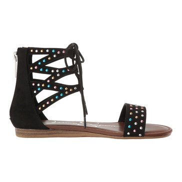 Jessica Simpson Margo Girls' Lace Up Sandal Black