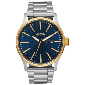 Nixon Men's Sentry SS Two-Tone Blue Sunray Watch, 42mm