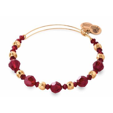 Alex and Ani Love Is In The Air Red Bloom Bangle