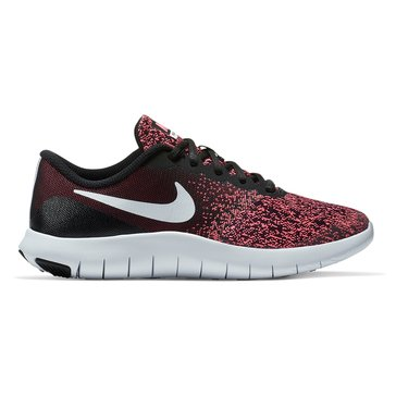 Nike Flex Contact Girls' Running Shoe Black/White