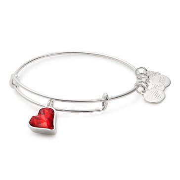 Alex and Ani Charity By Design Heart Of Strength Expandable Bangle, Silver Finish