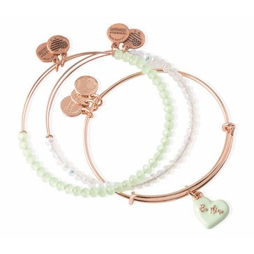 Alex and Ani Love Is In The Air Sweet Bangles, Set of 3