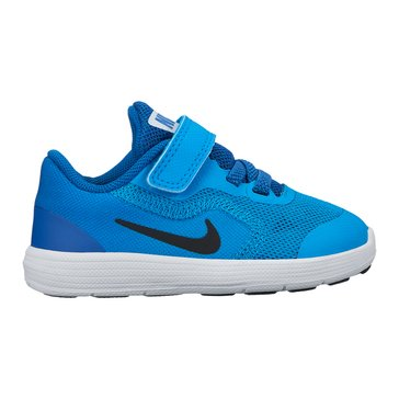 Nike Revolution 3 Boys' Running Shoe Blue Orbit/ Black