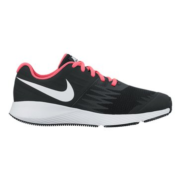 Nike Star Runner Girls' Running Shoe Black/White
