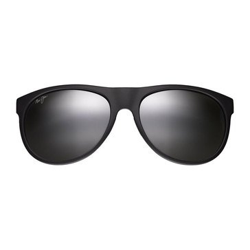 Maui Jim Unisex Rising Sun Sunglasses With Matte Black Frame and Neutral Grey Lens 57mm
