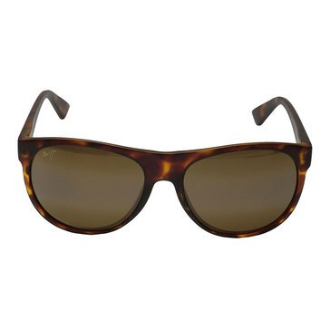 Maui Jim Unisex Rising Sun Polarized Sunglasses H731-10M, Matte Tortoise/ HCL Bronze 57mm