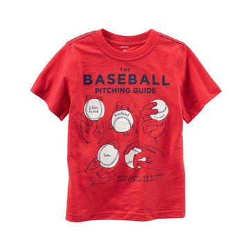 Carter's Toddler Boys' Baseball Tee, Red