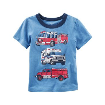 Carter's Toddler Boys' Rescue Car Tee, Blue