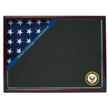 Corner Flag Case Honor Courage Commitment Fits 3x5 Flag, Cherry