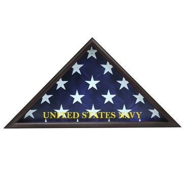 USN Casket Flag Triangle Fits 5x9 Flag, Black