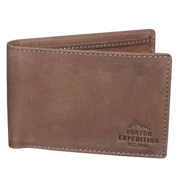 Buxton Expedition Front Pocket Slimfold Wallet - Saddle