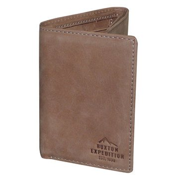 Buxton Expedition Trifold Wallet - Saddle