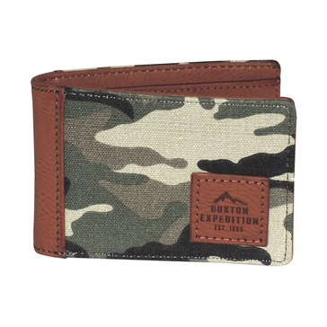 Buxton Expedition Huntington Gear Front Pocket Slimfold Wallet - Camo