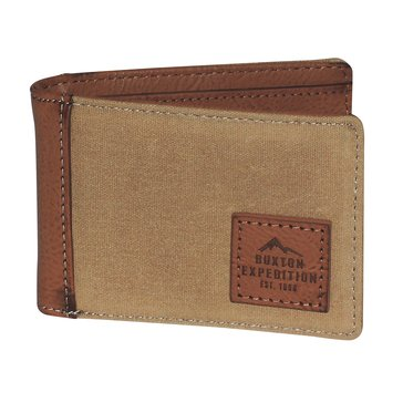 Buxton Expedition Huntington Gear Front Pocket Slimfold Wallet - Tan