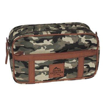 Buxton Expedition Huntington Gear Double Zip Travel Kit - Camo