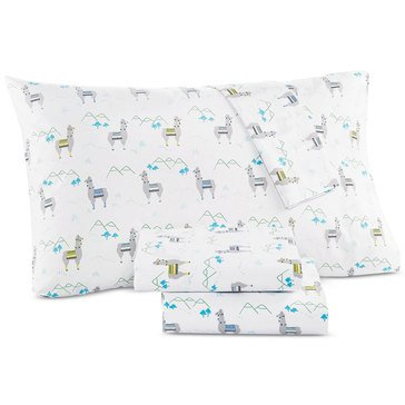 Martha Stewart Whim Collection 200 Thread-Count Sheet Set,  Llama - Queen