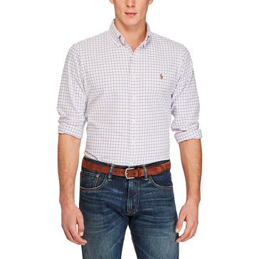Polo Ralph Lauren Men's Plaid Cotton Oxford Shirt