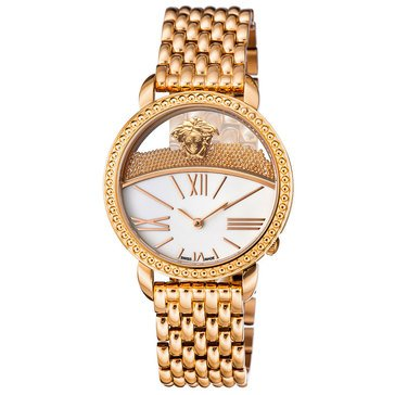 Versace Women's Krios Rose Gold Ion-Plated Stainless Steel Bracelet Watch 38mm