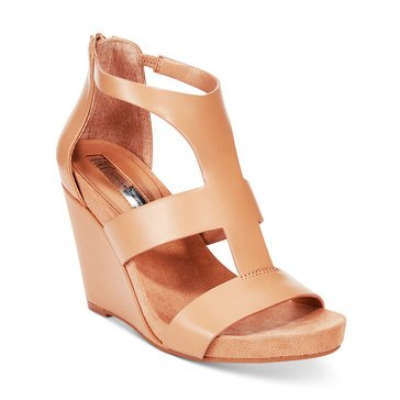 INC International Concepts Lilbeth Women's Wedge Sandal Classic Tan