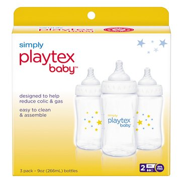 Playtex Simply Bottles, 9oz, 3-Pack