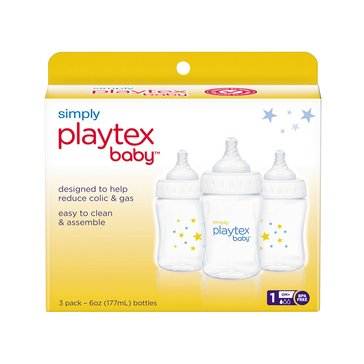 Playtex Simply Bottles, 6oz, 3-Pack