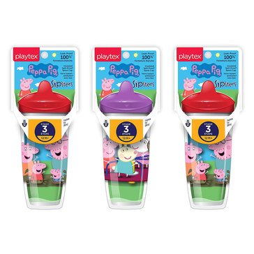 Playtex Sipsters Stage 3 Peppa Pig 9 oz Sippy Cup With Spout, 1 pack