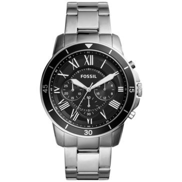 Fossil Men's Grant Chronograph Stainless Steel Bracelet Watch 44mm