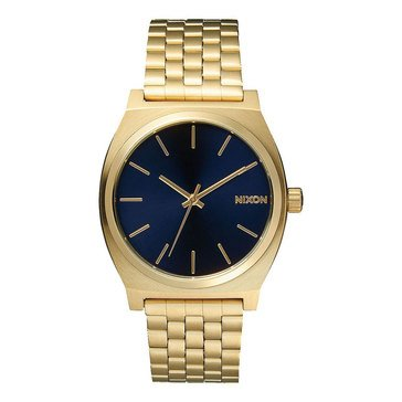 Nixon Unisex Time Teller Cobalt/Light Gold Watch, 37mm