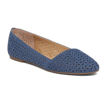 Lucky Brand Archh2 Women's Perforated Flat Dark Chambray