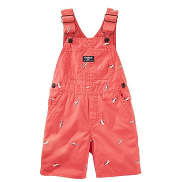 OshKosh Baby Boys' Embroidered Shark Canvas Shortalls