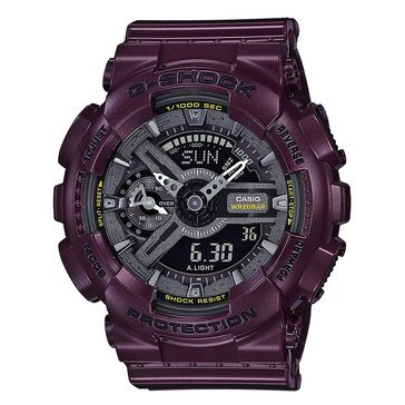 Casio G-Shock Women's S-Series Watch GMAS110MC-6, Dark Purple Metallic 49mm